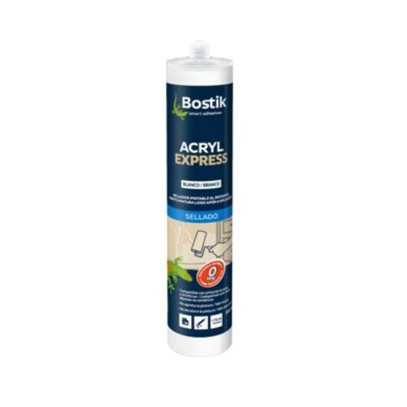 BOSTIK ACRYL EXPRESS BLANC 300 ML. (SELLADOR PINTABLE).