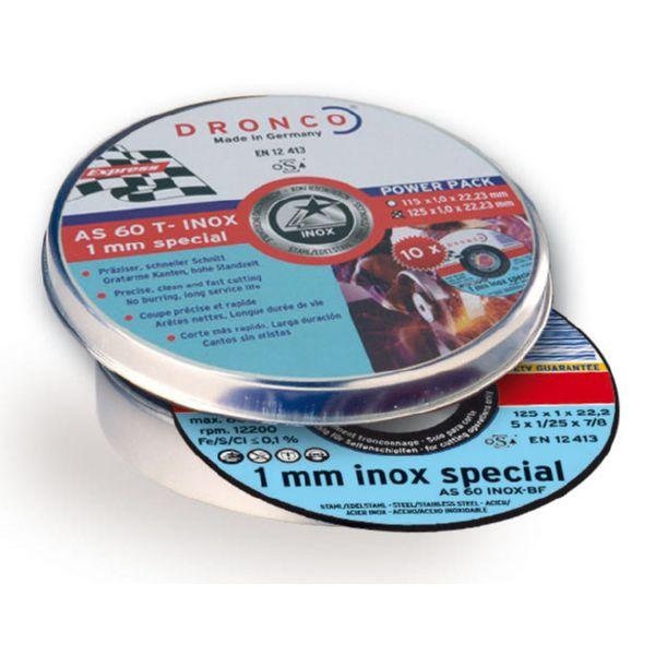 DISC TALL INOX AS60 115X1X22.23 10UNI.